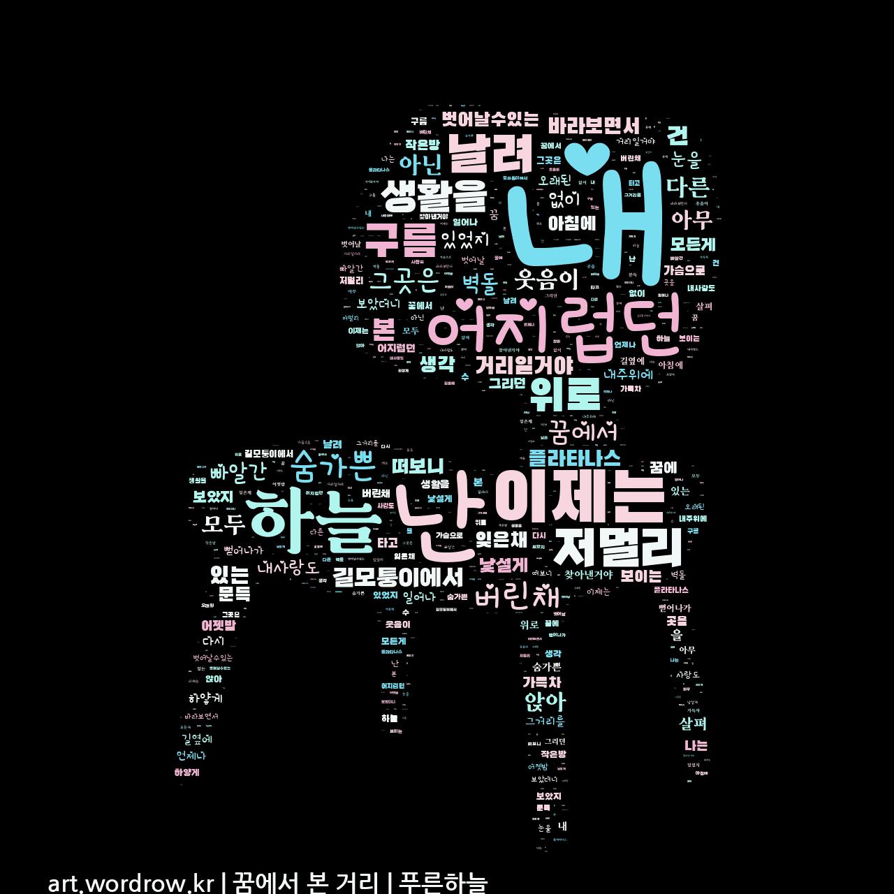 워드 아트: 꿈에서 본 거리 [푸른하늘]-8